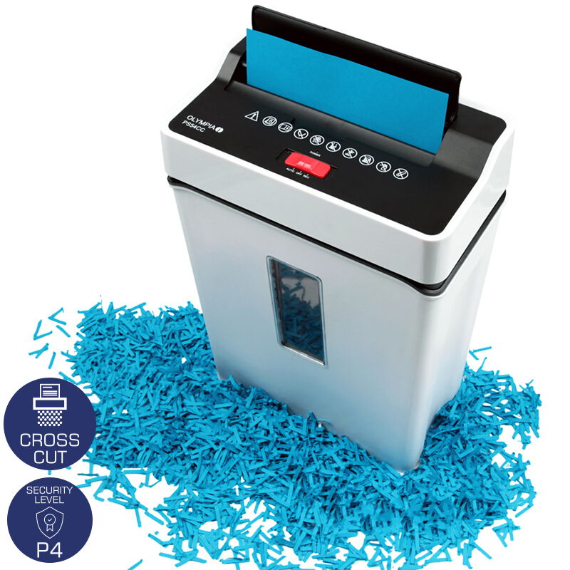 OLYMPIA PS 54 CC DOCUMENT AND CREDIT CARD SHREDDER CROSS CUT P4 WHITE